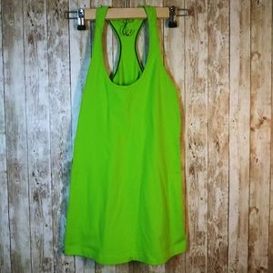Lululemon Green Cool Razor Back Tank Top